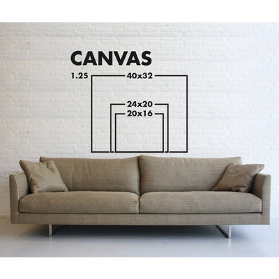 Stretched Canvas 1.5 - Double Curve by Rodrigo Martin