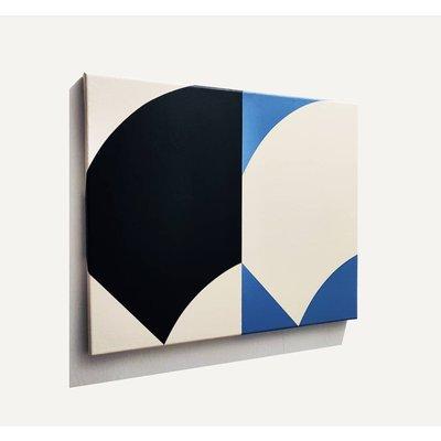 Framed Print on Canvas Double Curve by Rodrigo Martin