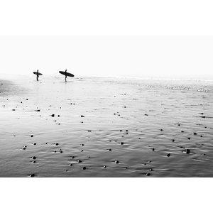 Framed Print on Rag Paper: Morning Surf