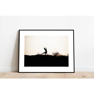 Framed Print on Rag Paper: On the Edge by Enric Gener
