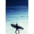Framed Print on Rag Paper A Walk on the Beach