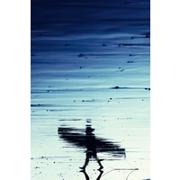 The Picturalist Framed Print on Rag Paper: A Walk on the Beach