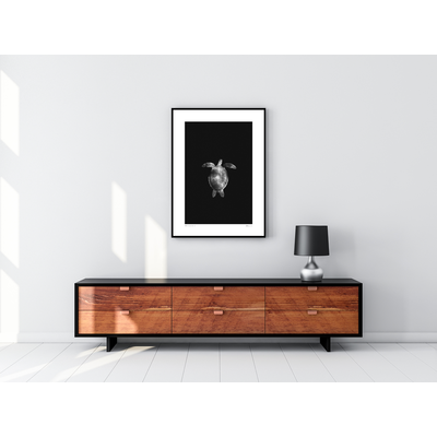 Framed Print on Rag Paper: Carey by Enric Gener