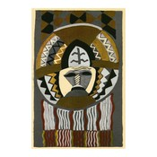 Framed Print on Rag Paper: African Mask by Edouard Benedictus