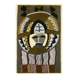 Print on Paper US250 - African Mask by Edouard Benedictus