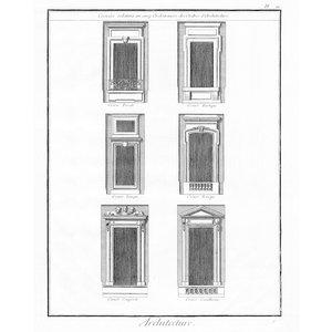 """Print on Paper US250 - Architectural Details """"Croisées Relatives aux Cinq Ordonnances d'Architecture''"""