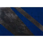 Framed Print on Canvas: Black and Blue 2 Canvas by Evelyn Ogly