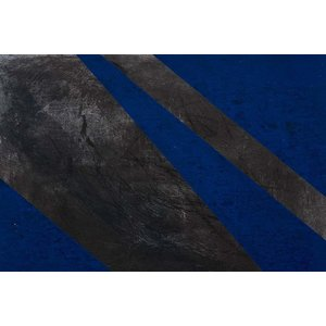 Framed Print on Canvas Black and Blue 2