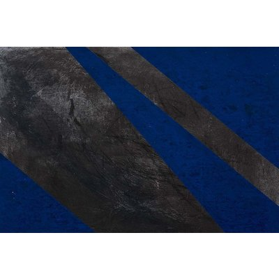 The Picturalist Framed Print on Canvas: Black and Blue 2 Canvas by Evelyn Ogly