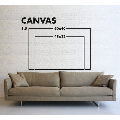Framed Print on Canvas: Explanation by Evelyn Ogly Canvas