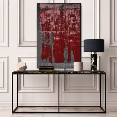 Framed Print on Canvas Universal Syncopations 1 Canvas by Evelyn Ogly