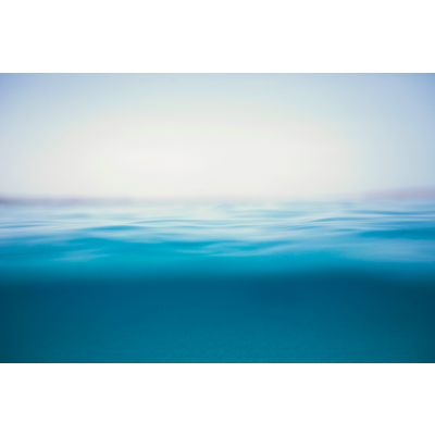 Facemount Acrylic - Blue Infinite Horizon Acrylic Glass by Enric Gener