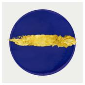 Gold Blue Circle - Embellished