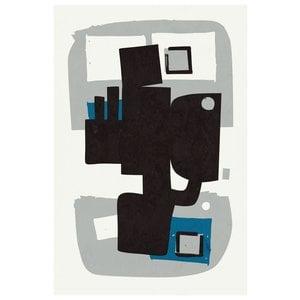 Framed Print on Rag Paper Modernist Blue Series #4