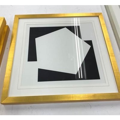 Framed Print on Rag Paper Moderna 2 by Alejandro Franseschini