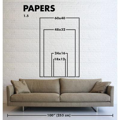 Framed Print on Rag Paper Wide Mat -Rotation by Enric Gener