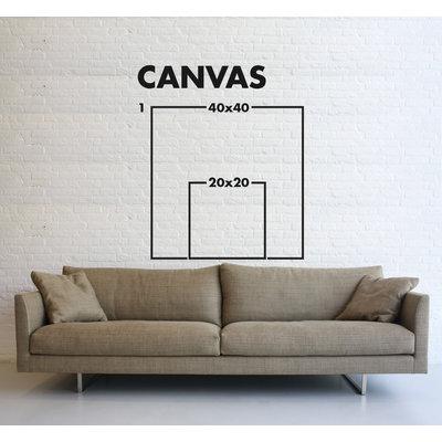 Framed Print on Canvas Graffitti Blur 2 by Julia Di Sano