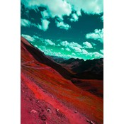 The Picturalist Framed Facemount Acrylic: Rainbow Mountain by Julia Di Sano 1/4 Inch Thick Acrylic Glass