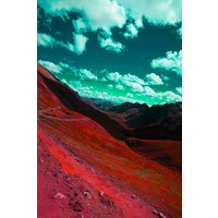 The Picturalist Framed Facemount Acrylic: Rainbow Mountain 1/4 Inch Thick Acrylic Glass