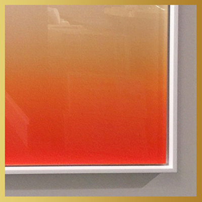 The Picturalist Framed Facemount Acrylic: Ombre in Rust by Alejandro Franseschini