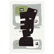 The Picturalist Framed Print on Rag Paper: Modernist Green Series #3