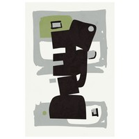 Framed Print on Rag Paper Modernist Green Series #3