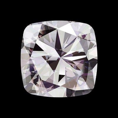 Facemount Acrylic: Precious Gem White Radiant Diamond