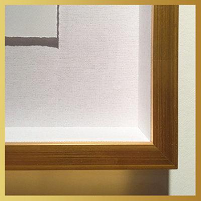 Framed Print on Rag Paper: Aqua Quench by J. Sobol