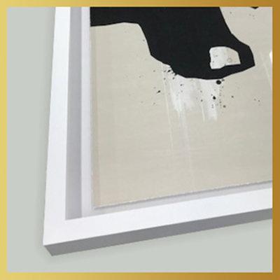 Framed Print on Rag Paper: Modernist Blue Series #4