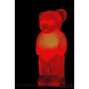 Facemount Acrylic: Red Bear 1/4 Inch Thick Acrylic Glass