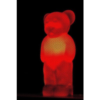 Framed Facemount Acrylic Red Bear 1/4 Inch Thick Acrylic Glass