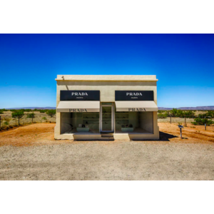 Framed Print on Rag Paper: Prada Marfa in Valentine