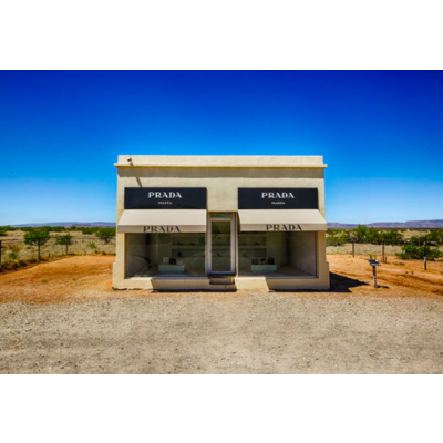 The Picturalist Framed Print on Rag Paper: Prada Marfa in Valentine by M. Haupt