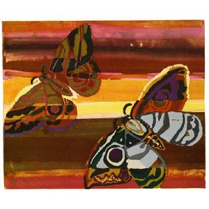 Framed Print on Rag Paper Butterflies