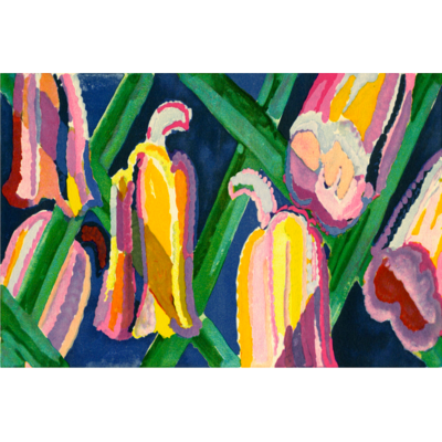Framed Print on Rag Paper: Campanules by Edward Benedictus