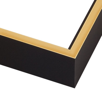 The Picturalist Framed Facemount Acrylic: Black Gold Screen 1/4 Inch Thick Acrylic Glass