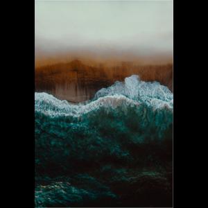 Framed Facemount Metal Mindful Wave