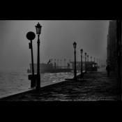 Facemount Acrylic: Morning Fog In Venice Facemount Acrylic