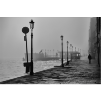 The Picturalist Framed Facemount Acrylic: Morning Fog In Venice