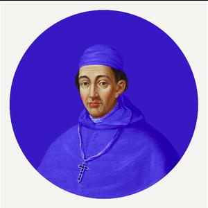 Framed Print on Rag Paper Cardinal in Blue