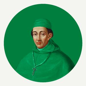 Framed Print on Rag Paper Cardinal in Green