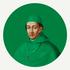 Framed Print on Rag Paper Cardinal in Green by Alejandro Franseschini