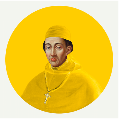 Framed Print on Rag Paper: Cardinal in Yellow by Alejandro Franseschini