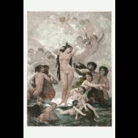 Framed Print on Rag Paper: The Birth of Venus