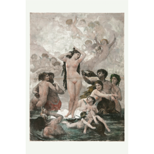 Framed Print on Rag Paper The Birth of Venus