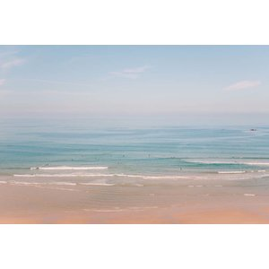 The Picturalist Framed Print on Rag Paper: Hazy Beach Day