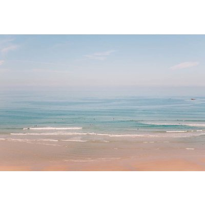 Framed Print on Rag Paper: Hazy Beach Day by J. Cob