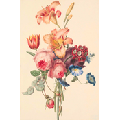 Framed Print on Rag Paper: A Bouquet by Geertruida Knip