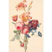 Framed Print on Rag Paper: A Bouquet
