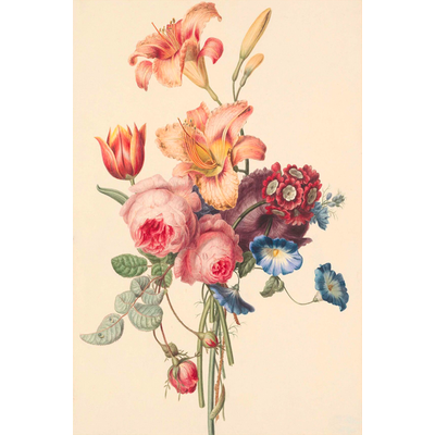 The Picturalist Framed Print on Rag Paper: A Bouquet by Geertruida Knip